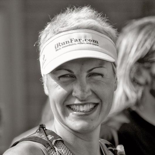 Rachel Paquette au départ du X-Trail Sutton